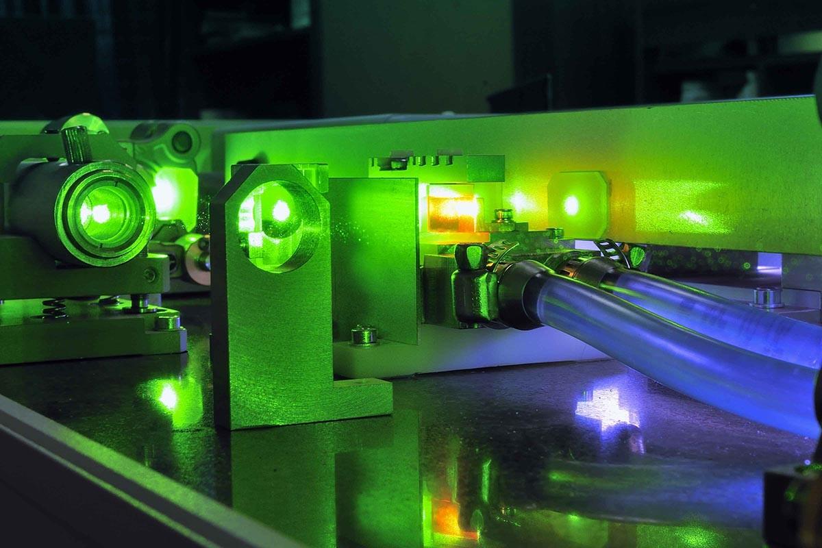 Vrai laser fibre